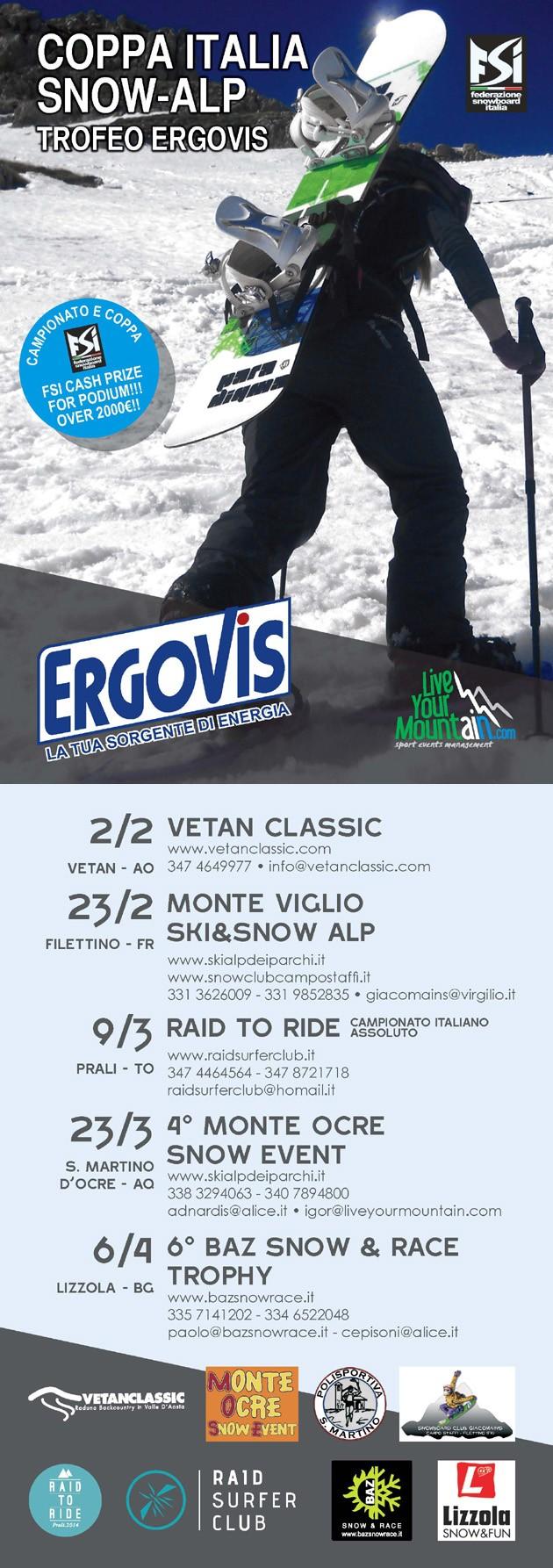 flyer Italian Snow Alp Cup