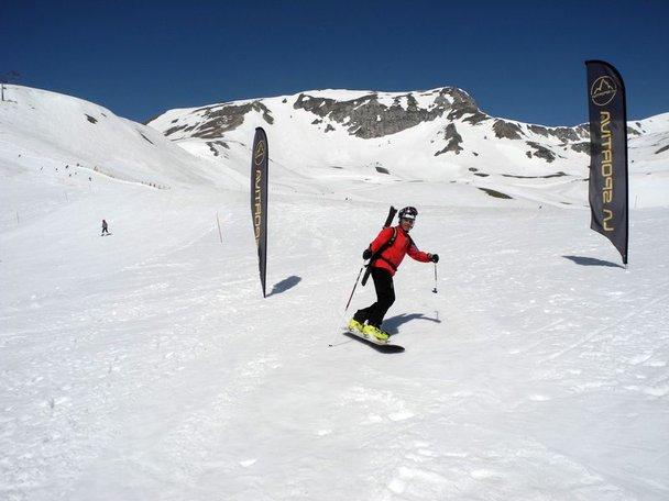 Arrivo_Giancarlo_Costa_vincitore_Coppa_Italia_Snowboard_Alpinismo