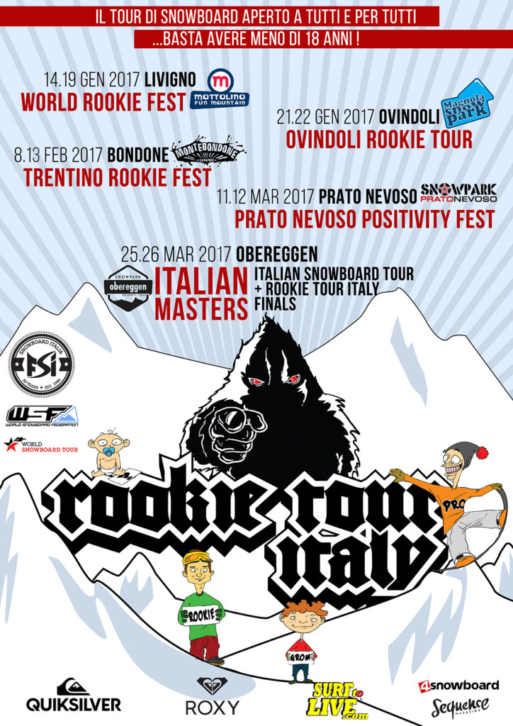 Rookie Tour Italy 2016/2017 Poster